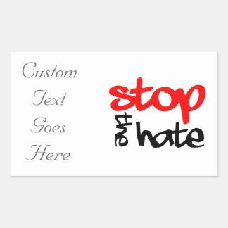 Stoppen Sie den Hass Rechteckiger Aufkleber