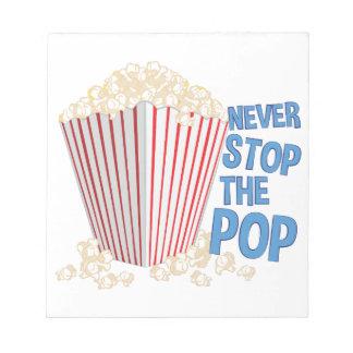 Stoppen Sie den Pop Notizblock