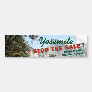 STOPPEN Sie DEN VERKAUF von YOSEMITEpark = Autoaufkleber