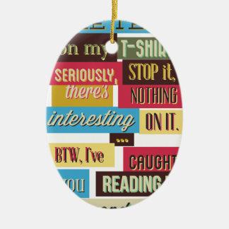 stoppen Sie, die Texte, coolen neuen Entwurf zu Keramik Ornament
