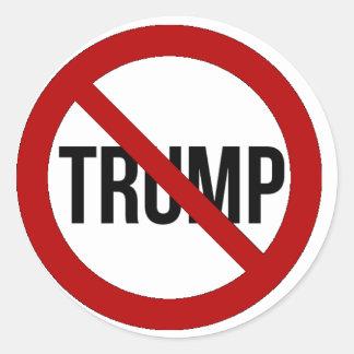 Stoppen Sie Donald Trump Anti-Trumpf 2016 Runder Aufkleber