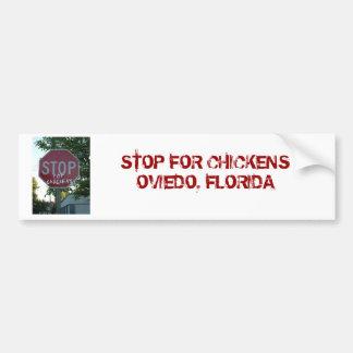 Stoppen Sie für Huhn-Autoaufkleber Autoaufkleber