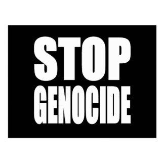 Stoppen Sie Genozid. Protestieren Sie Mitteilung Postkarte
