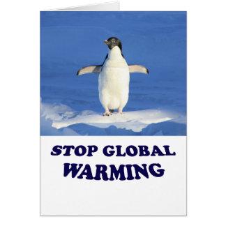 Stoppen Sie globale Erwärmungs-Gruß-Karte Karte