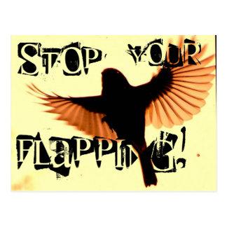 Stoppen Sie Ihr Flattern Postkarte