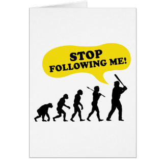 Stoppen Sie, mir zu folgen Karte