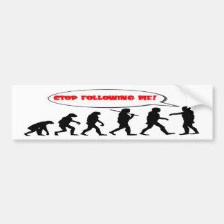 stoppen Sie, mir zu folgen lustige Evolution Autoaufkleber