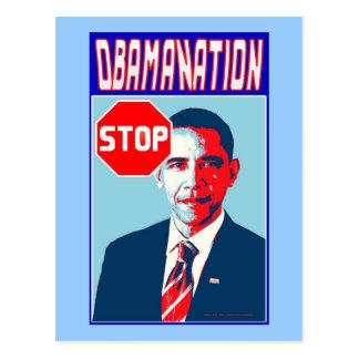 Stoppen Sie Obamanation Pop-Kunst-politisches Sati Postkarten