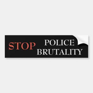 Stoppen Sie Polizei-Brutalität Autoaufkleber