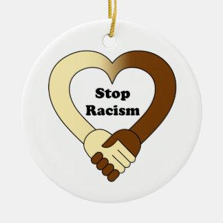 Stoppen Sie Rassismus Keramik Ornament