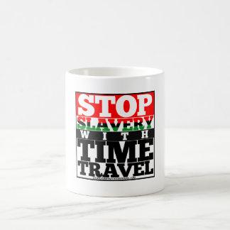 Stoppen Sie Sklaverei mit der Zeit-Reise-Tasse Kaffeetasse