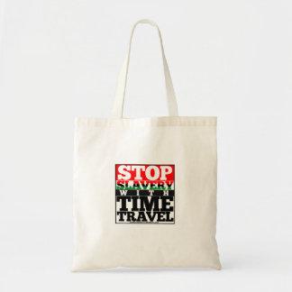 Stoppen Sie Sklaverei mit Tragetasche