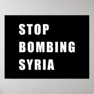 Stoppen Sie, Syrien zu bombardieren Poster