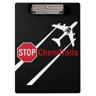 Stoppen Sie Zeichen weißen Chemtrails