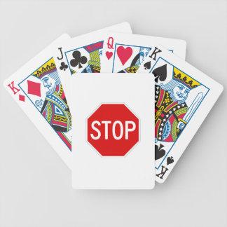 Stoppschild Bicycle Spielkarten