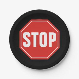 Stoppschild Pappteller