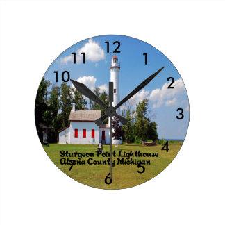 Stör-Punkt-helles Haus Michigan Runde Wanduhr
