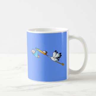 Storch-Lieferung für Jungen Kaffeetasse