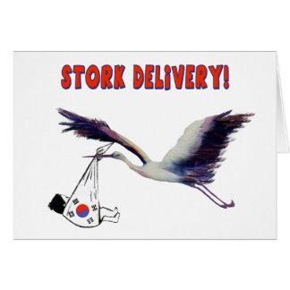 Storch-Lieferung! Karte