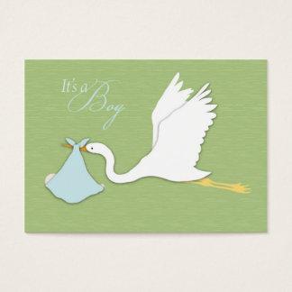 Storch-Lieferungs-Jungen-Erinnerung Notecard Visitenkarte