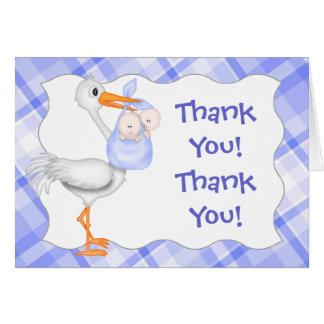 Storch u. Doppeljungen-Blau dankt Ihnen zu Karte