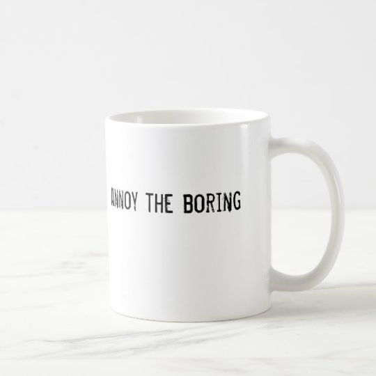 stören Sie das Bohren Kaffeetasse