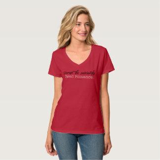 Stören Sie das Patriarchy gelesene Romance V-Hals T-Shirt