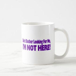 Stören Sie nicht Kaffeetasse