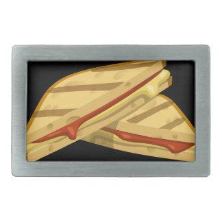 Störschub-Nahrungsmittelteurer gegrillter Käse Rechteckige Gürtelschnallen