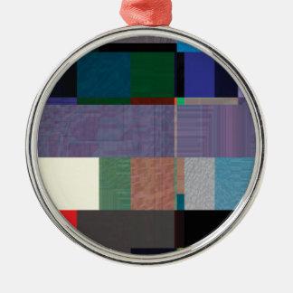 Störschub Nr. acht Rundes Silberfarbenes Ornament