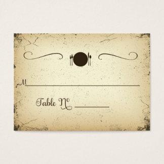 Storyline-formale Hochzeits-Tabellen-Platzkarte Visitenkarte