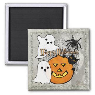 Stoß in der Nacht Halloween Quadratischer Magnet