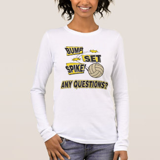 Stoß-Set-Spitzen-Volleyball Langarm T-Shirt