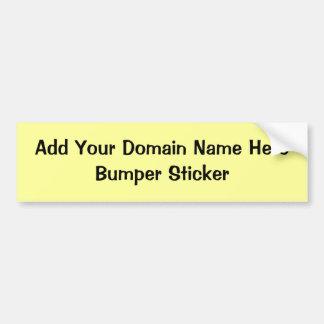 Stoßdämpfer Aufkleber-Fügen Ihr eigenes Domain Autoaufkleber