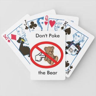 """""""Stoßen Sie nicht der Bärn-"""" Spielkarten"""