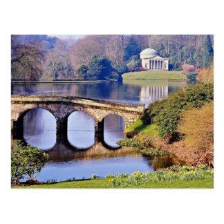 Stourhead Garten, Wiltshire-Blumen Postkarte