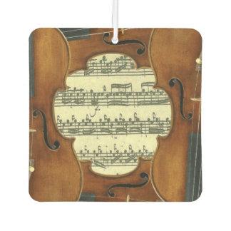 Stradivari Violinen Bach Partita Musik-Manuskript Autolufterfrischer