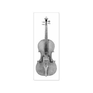 Stradivarius Violine geätzte Blick-Wiedergabe Gummistempel