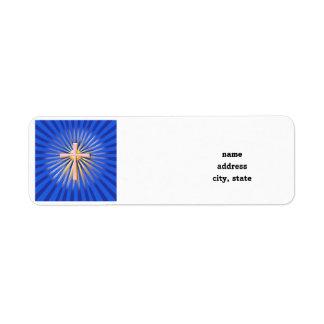 Strahlen des Lichtes vom religiösen Kreuz (auf