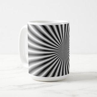 Strahlen in Schwarzweiss Kaffeetasse