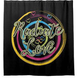 Strahlen Sie Liebe mit Herzen aus Duschvorhang