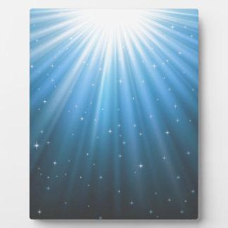 Strahlensun-Strahl inspirierend Fotoplatte