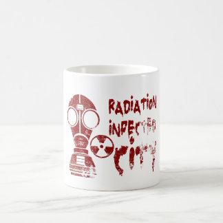 Strahlung angesteckte Stadt Kaffeetasse
