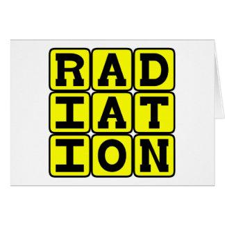 Strahlung, bleiben weg karte