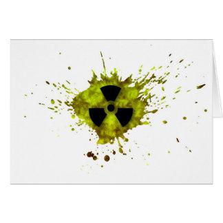 Strahlung platsch - radioaktiver Abfall Karte