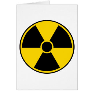 Strahlungs-Gefahrenzeichen Karte
