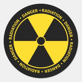 Strahlungs-Symbol-Aufkleber Runder Aufkleber