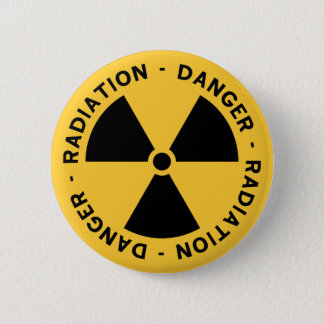 Strahlungs-Symbol-Knopf Runder Button 5,1 Cm