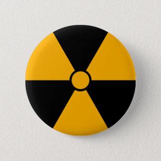 Strahlungs-Symbol-Knopf Runder Button 5,7 Cm
