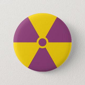 Strahlungs-Symbol Runder Button 5,1 Cm